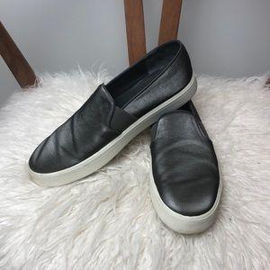 VINCE l Pewter Gray Metallic Sneaker Shoes